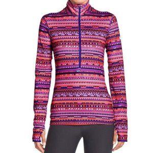 Nike Pro Half Zip 8 Bit Tribal Boho Dri Fit Jacket